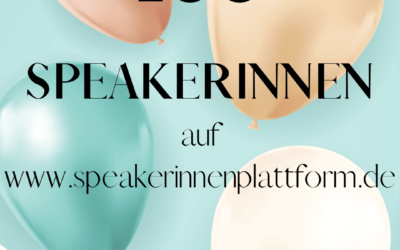 We are thrilled – 100th female speaker registered
